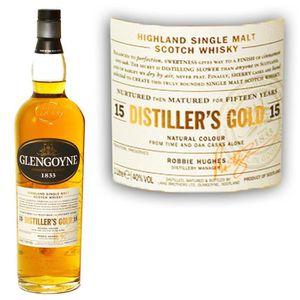 WHISKY BOURBON SCOTCH Glengoyne 15 ans distiller's Gold 40° 1L