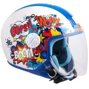 CASQUE MOTO SCOOTER CGM Casque Jet Kid 206G Comics Bleu