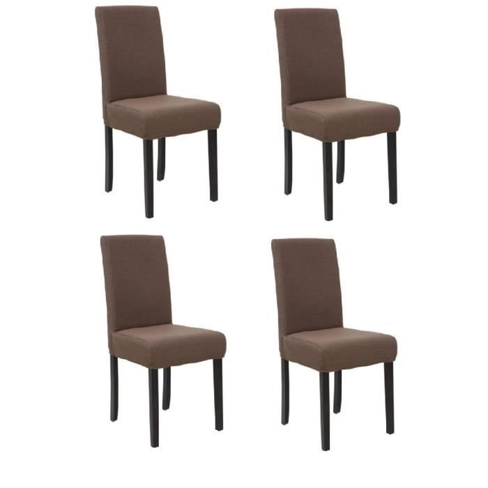 Strip lot de 4 chaises de salle manger d houssables for Chaise salle a manger lot de 4
