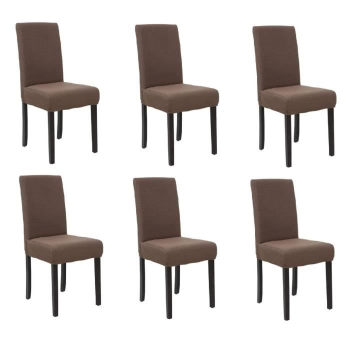 Strip lot de 6 chaises de salle manger d houssables for Lot de 6 chaise salle a manger