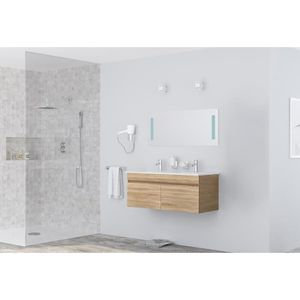 MEUBLE VASQUE - PLAN ALBAN Salle de bain L 120 cm double vasque incluse