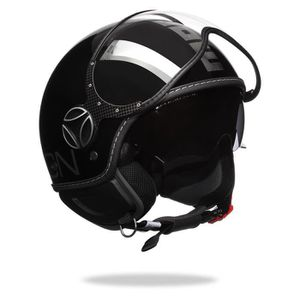CASQUE MOTO SCOOTER MOMO DESIGN FGTR Evo Casque Jet Noir Chrome