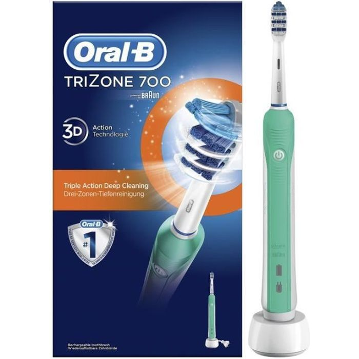 brosse a dents electrique oral b trizone achat vente pas cher. Black Bedroom Furniture Sets. Home Design Ideas