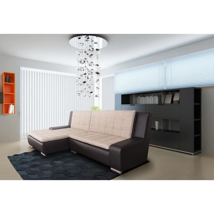 Connecting canap angle gauche 4 places marron achat vente canap sofa - Densite assise canape ...