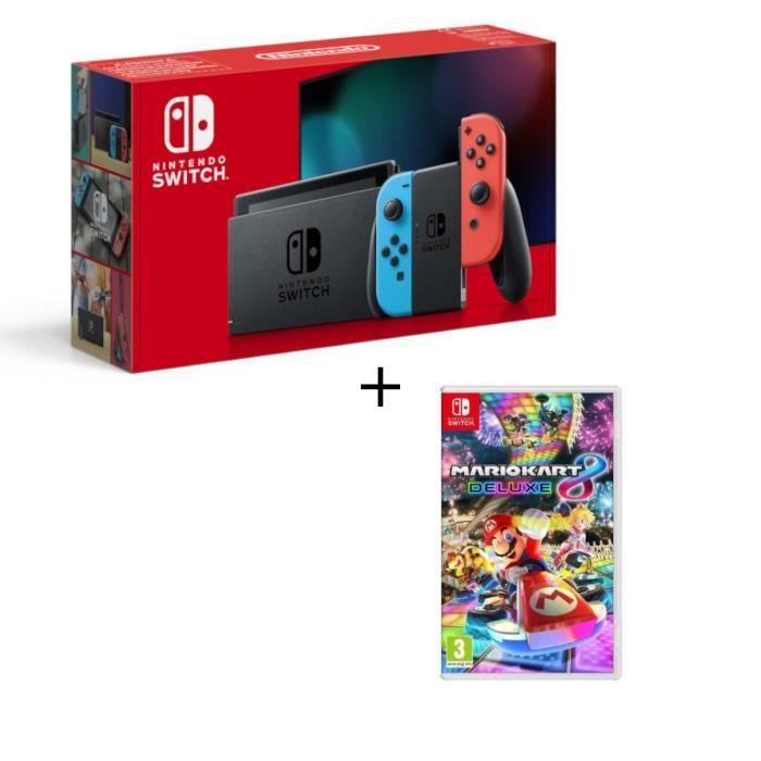 CONSOLE NINTENDO SWITCH Pack Nintendo Switch avec paire de joy-con bleu né