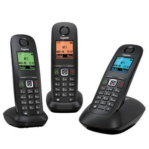Téléphone fixe Gigaset A540 Trio Téléphone Sans Fil Sans Répondeu