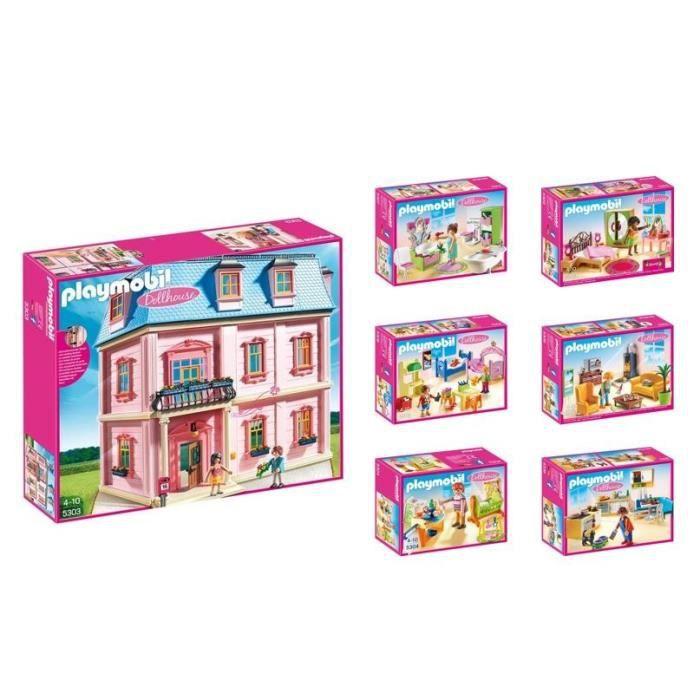 Playmobil La Maison Traditionnelle Complète Lot De 7