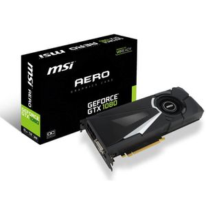 CARTE GRAPHIQUE INTERNE MSI Carte graphique GeForce® GTX 1080 AERO 8G OC 8