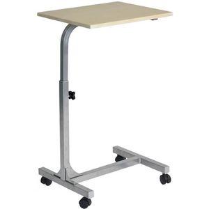 EQUIPEMENT DU LIT Table de lit - Ajustable en hauteur - Bois clair