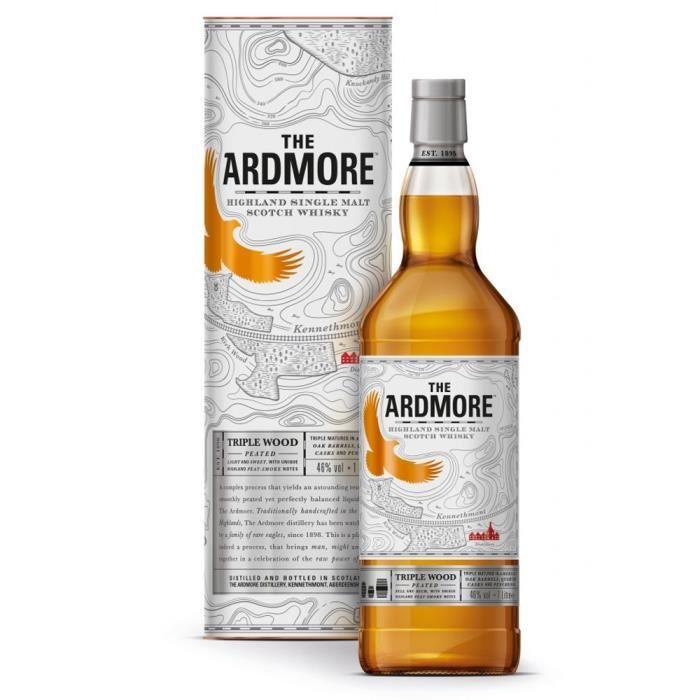 WHISKY BOURBON SCOTCH Ardmore triple wood 46° 1 litre