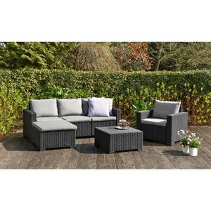 salon de jardin achat vente salon de jardin pas cher soldes cdiscount. Black Bedroom Furniture Sets. Home Design Ideas