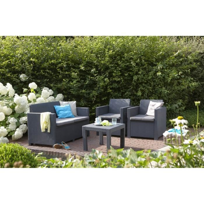Alabama salon de jardin aspect rotin achat vente salon for Salon de jardin phoenix