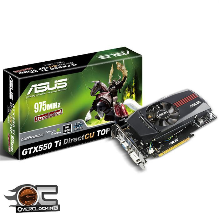 CARTE GRAPHIQUE INTERNE Asus GTX 550 Ti DirectCU TOP 1Go