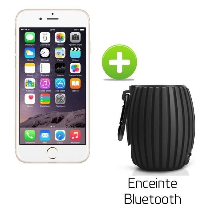 apple iphone 6 16go or enceinte bluetooth sbt30 achat. Black Bedroom Furniture Sets. Home Design Ideas