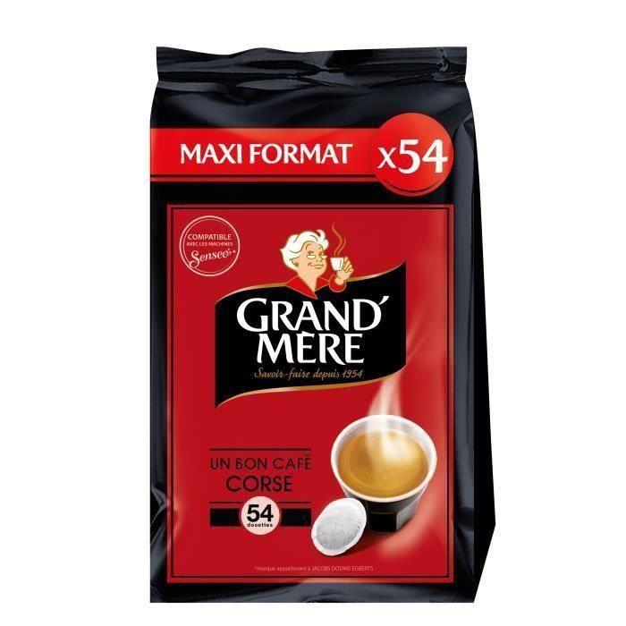 CAFÉ GRAND'MERE Café corsé - 5 paquets de 54 dosettes