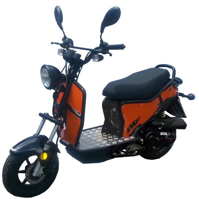 imf industrie scooter ptio 50cc 4 temps noir orange achat vente scooter imf industrie. Black Bedroom Furniture Sets. Home Design Ideas