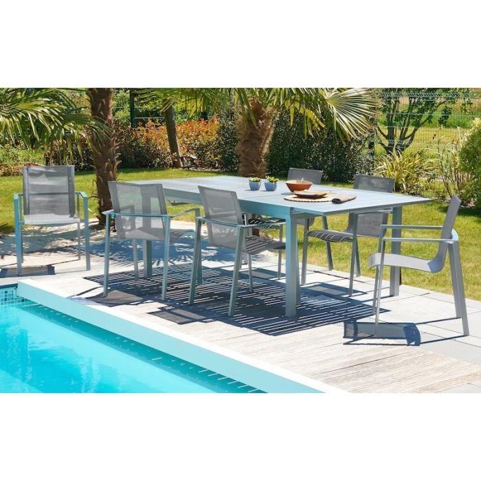 ORLANDO Ensemble table de jardin 180-240cm avec rallonge ...
