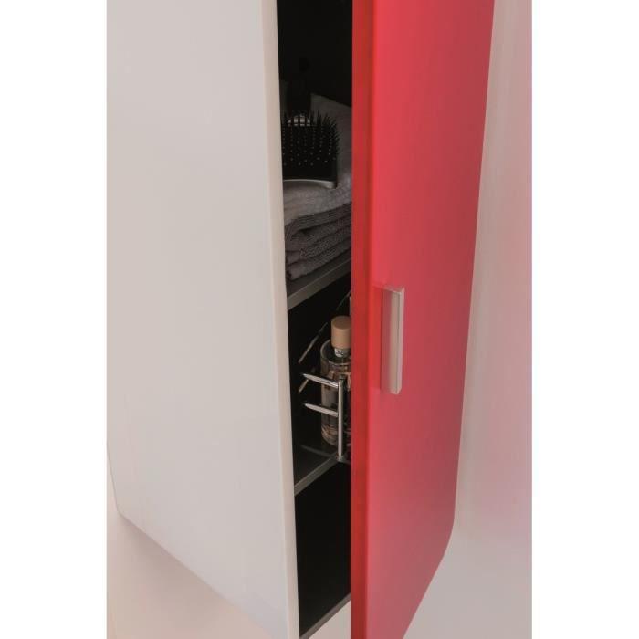 COLONNE - ARMOIRE SDB GINO Colonne de salle de bain L 30 cm - Rouge et b