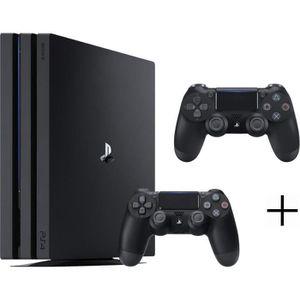 CONSOLE PS4 Pack PS4 Pro Noir + 2ème manette DualShock 4 Noire