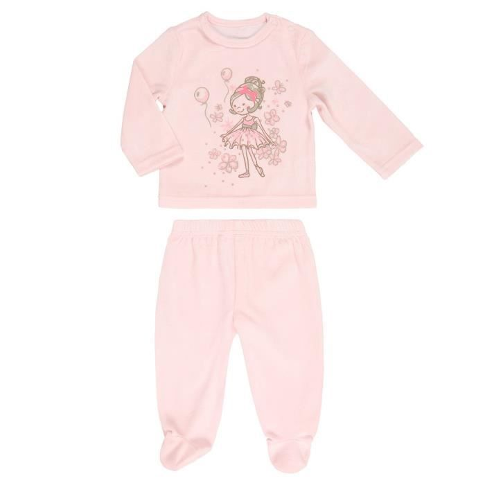 b b r ve pyjama velours b b fille rose achat vente pyjama chemise de nuit cadeaux de. Black Bedroom Furniture Sets. Home Design Ideas