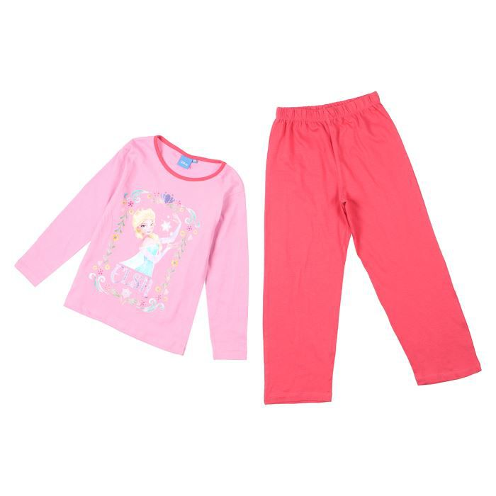 reine des neiges pyjama enfant fille t shirt rose pantalon fushia achat vente pyjama. Black Bedroom Furniture Sets. Home Design Ideas