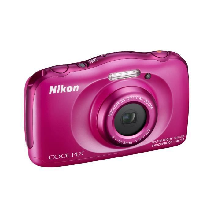 nikon coolpix s33 rose appareil photo num rique compact. Black Bedroom Furniture Sets. Home Design Ideas