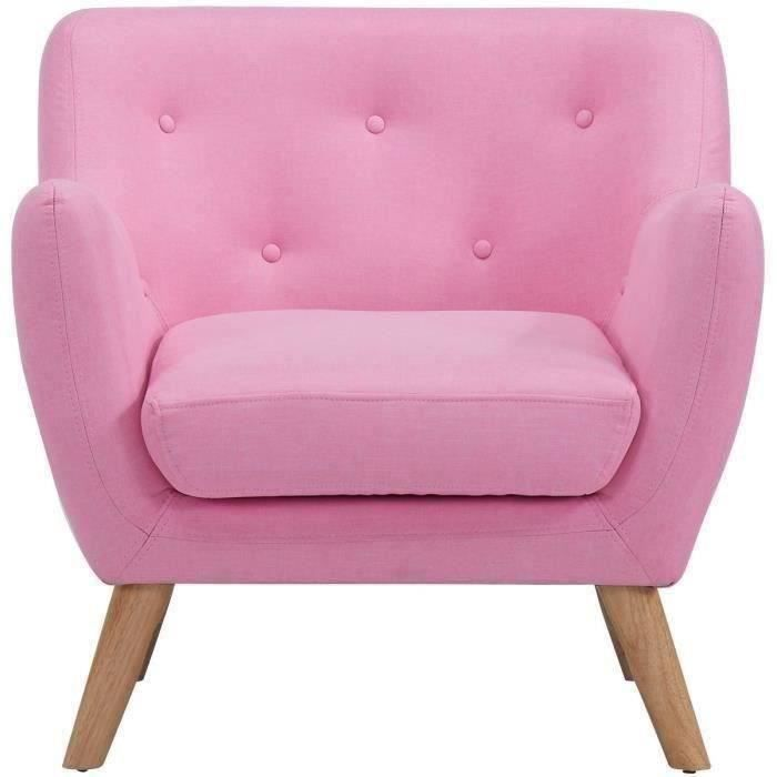 scandi fauteuil design scandinave tissu rose achat vente fauteuil rose structure bois. Black Bedroom Furniture Sets. Home Design Ideas
