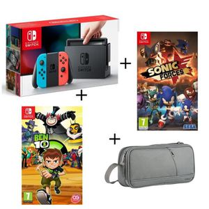 SORTIE CONSOLE NINTENDO SWITCH Console Nintendo Switch Néon + Ben 10 +  Sonic For