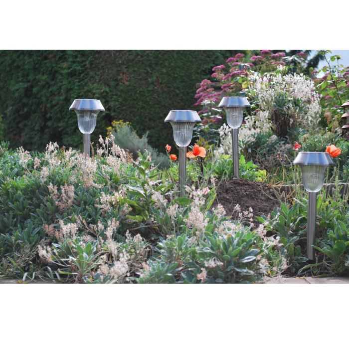 Lot de 4 lanternes en inox achat vente lampion lot de for Aire jardin des causses du lot