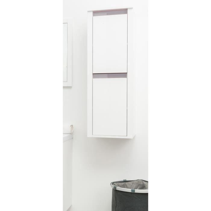 COLONNE - ARMOIRE SDB KRIS Colonne de salle de bain L 35 cm - Blanc et t