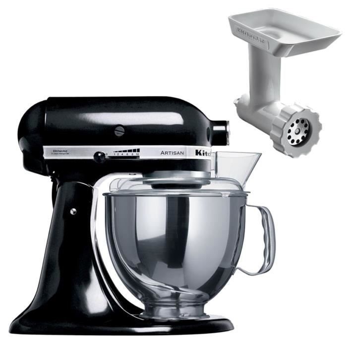 robot kitchenaid 5ksm150pseob hachoir achat vente. Black Bedroom Furniture Sets. Home Design Ideas