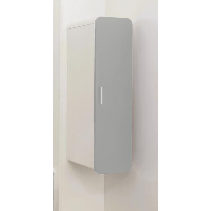 COLONNE - ARMOIRE SDB GINO Colonne de salle de bain L 30 cm - Taupe et b