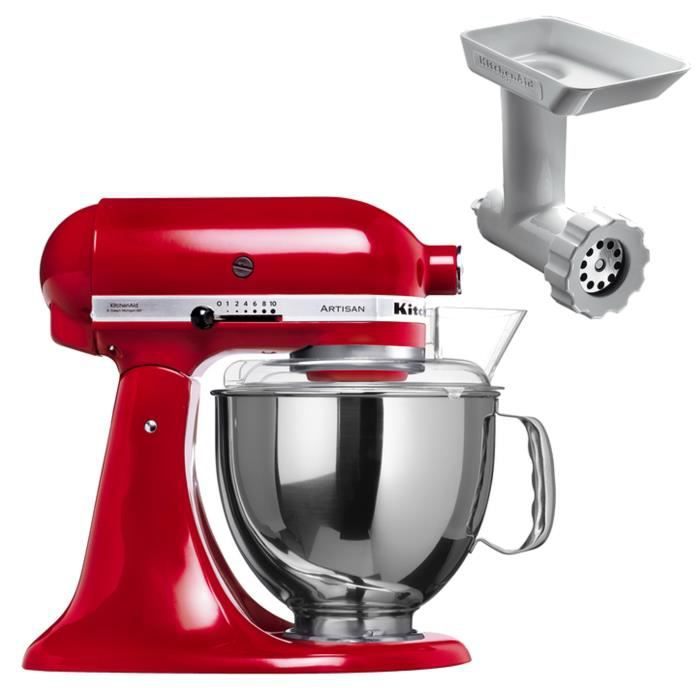 kitchenaid robot 5ksm150pseer hachoir achat vente robot multifonctions cdiscount. Black Bedroom Furniture Sets. Home Design Ideas