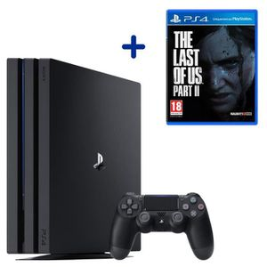 CONSOLE PS4 Console PS4 Pro 1To Noire/Jet Black + The Last of