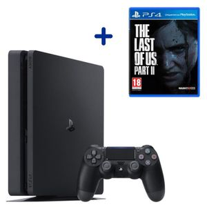 CONSOLE PS4 Console PS4 Slim 500Go Noire/Jet Black + The Last
