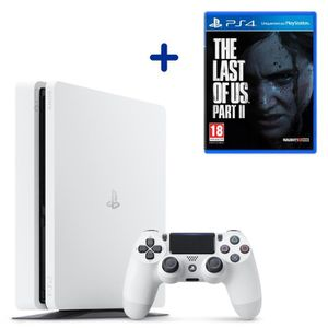 CONSOLE PS4 Console PS4 Slim 500Go Blanche/Glacier White + The