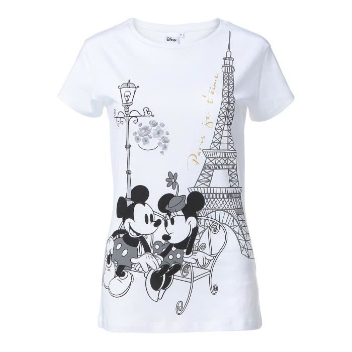 DISNEY MINNIE MOUSE T-shirt Femme - Blanc
