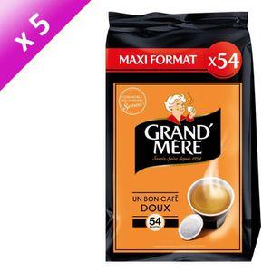 CAFÉ GRAND'MERE Café doux - 5 paquets de 54 dosettes