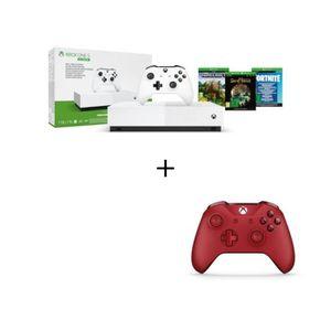 CONSOLE XBOX ONE Xbox One S All Digital + 2eme Manette sans fil Xbo