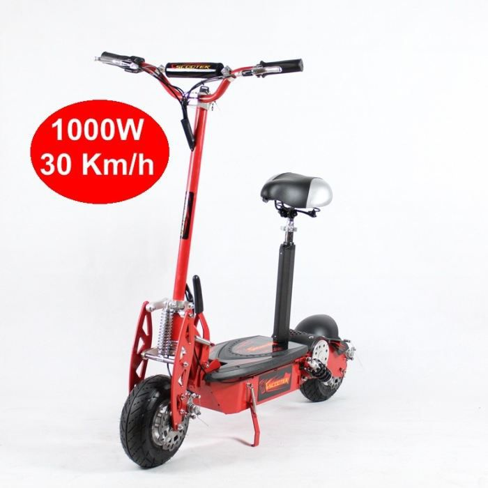 trottinette electrique adulte 1000w rouge achat vente trottinette electrique trotti. Black Bedroom Furniture Sets. Home Design Ideas