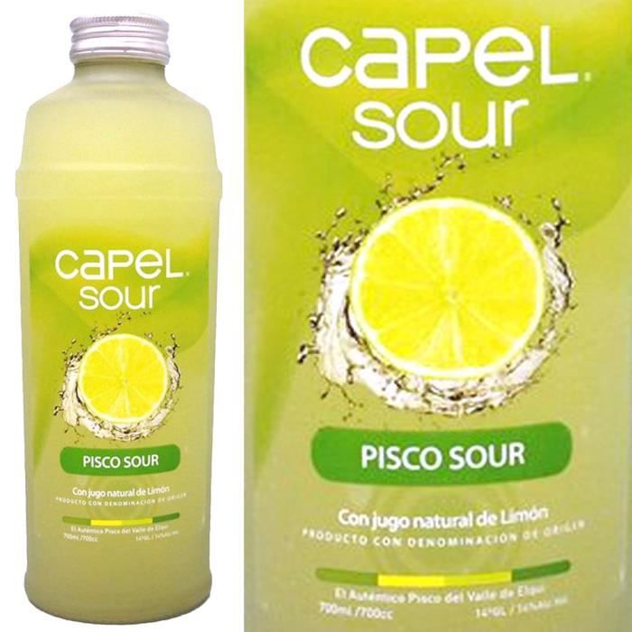 ASSORTIMENT APÉRITIF  Pisco Capel Sour con limon 70cl 14°