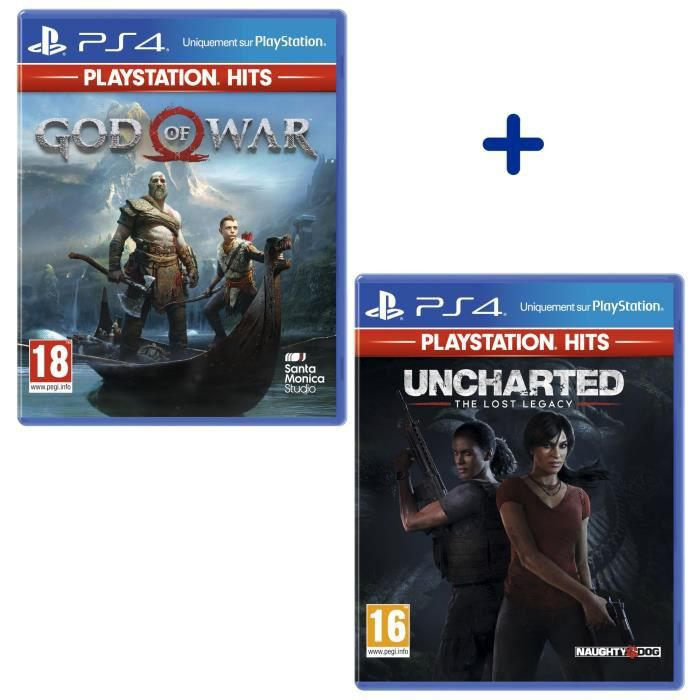 JEU PS4 Pack 2 Jeux PS4 PlayStation Hits : Uncharted: The