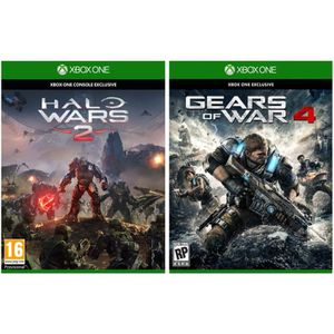 JEUX XBOX ONE Pack Halo Wars 2 + Gears of War 4