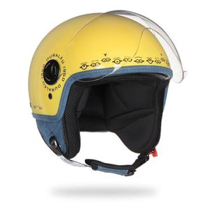 CASQUE MOTO SCOOTER MINIONS Casque Jet Face Jaune