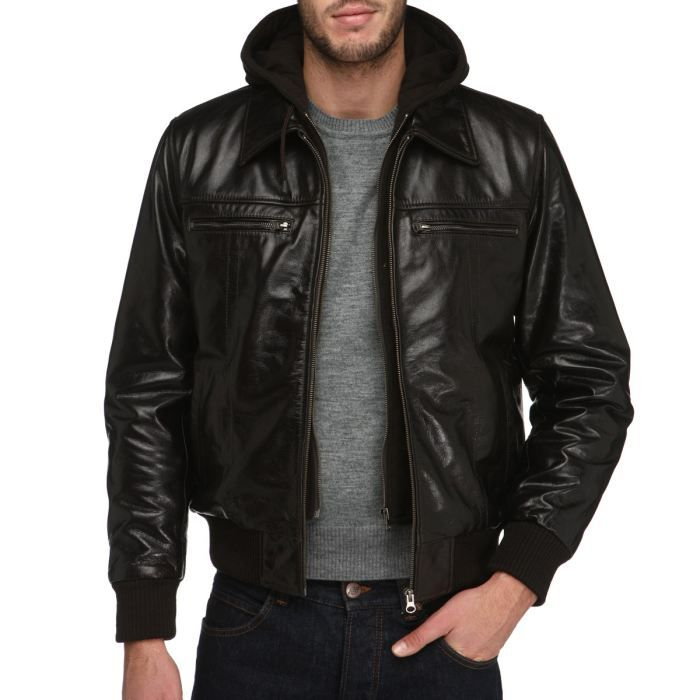 gangster unit blouson cuir homme marron achat vente blouson cdiscount. Black Bedroom Furniture Sets. Home Design Ideas