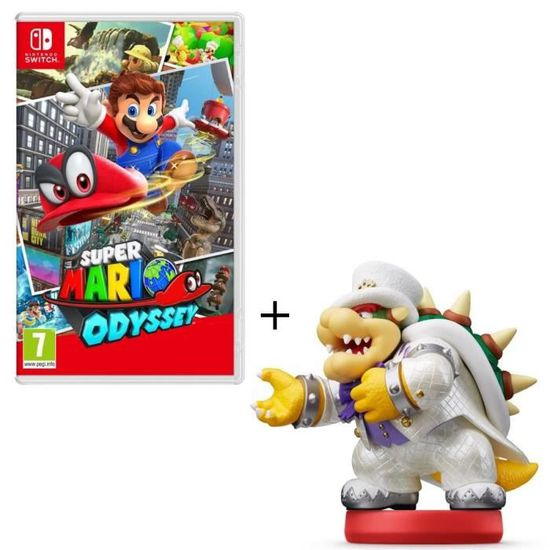 Super Mario Odyssey Jeu Switch Figurine Amiibo Bowser En