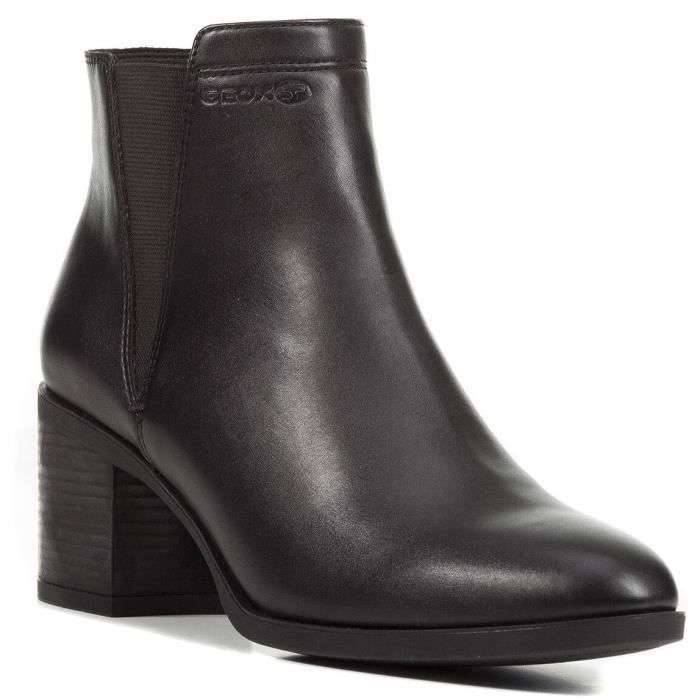 Boots femme cuir