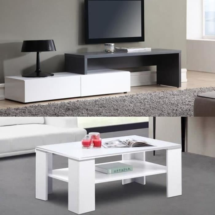 floyd salon complet blanc et gris achat vente meuble. Black Bedroom Furniture Sets. Home Design Ideas