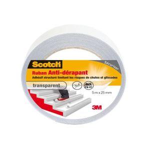 Anti-rutschband 5 m x 25 mm Noir Bande Intérieur et Extérieur applicable