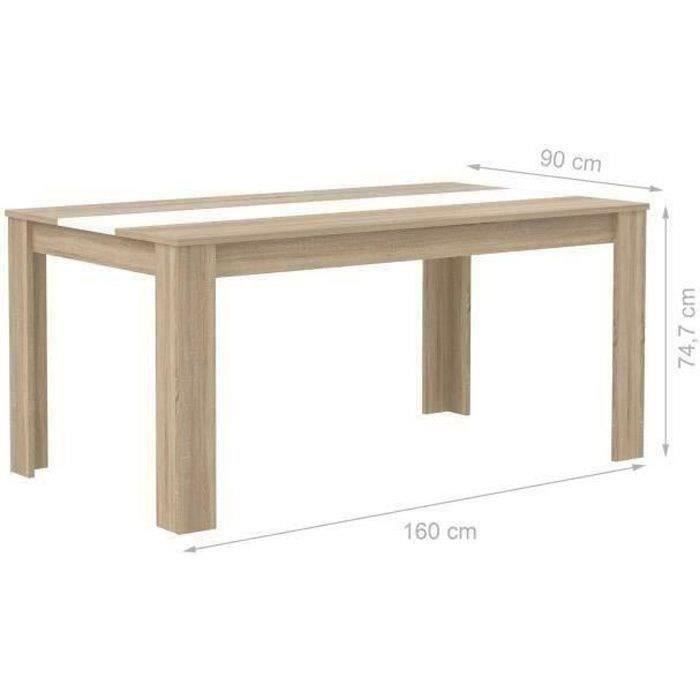 Table manger finlandek table el m 160 cm ch ne blanc for Table a manger 160 cm avec rallonge